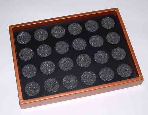 Jewelry tray with 24 holes